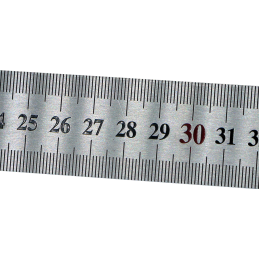 Réglet Inox Rigide 100 cm